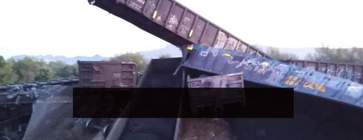 Se descarrila tren de Ferromex a la altura de Vicam, hay una persona muerta