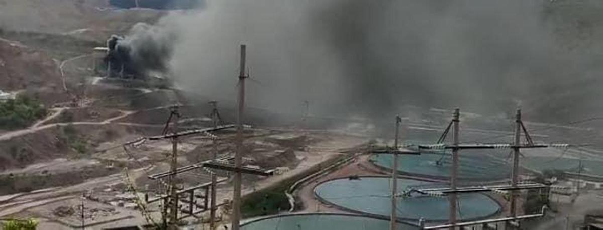 Banda transportadora ocasiona incendio en mina de Nacozari