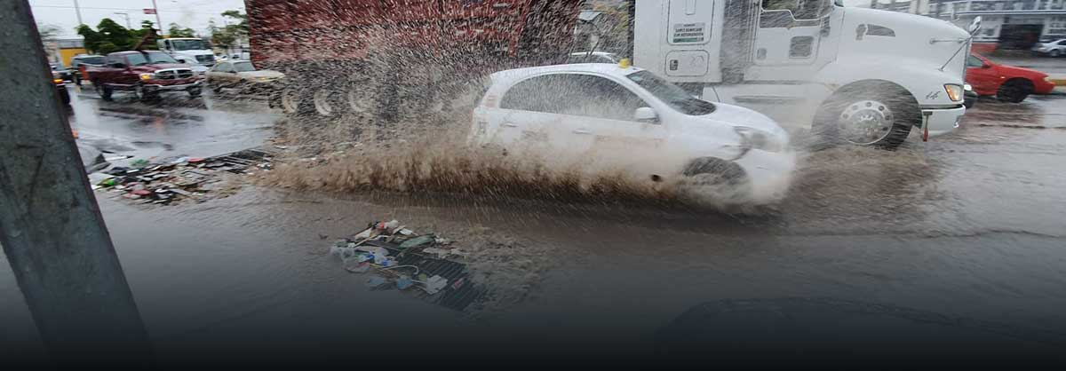 Lluvias en Hermosillo deja 10 vialidades y dos domicilios inundados